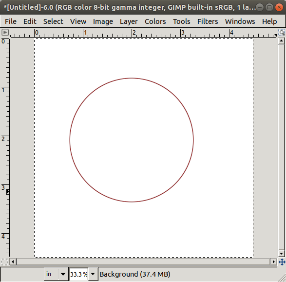Circle with 2-pixel Border Width