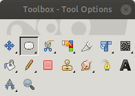 Toolbox with the Ellipse Select Tool Enabled