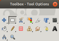 Toolbox with Rectangle Select Tool Enabled