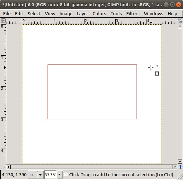 Rectangle with 2-pixel Border Width